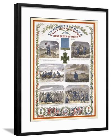 Victoria Cross, the New Order of Valour for the Army, C.1856--Framed Art Print
