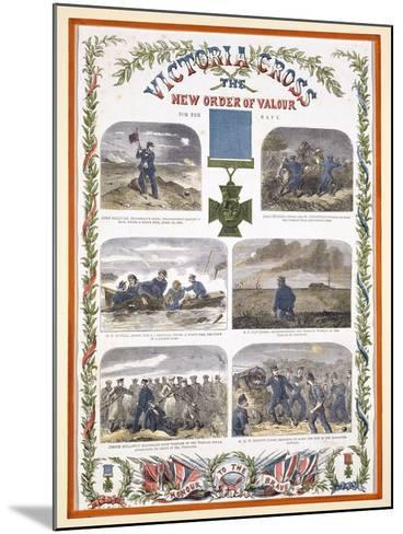 Victoria Cross, the New Order of Valour for the Army, C.1856--Mounted Giclee Print