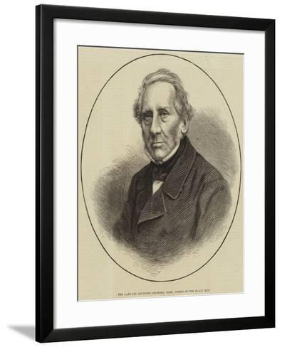 The Late Sir Augustus Clifford, Baronet, Usher of the Black Rod--Framed Art Print