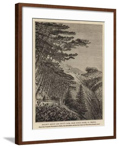 Halley's Mount and Hutt's Gate, from Woody Ridge, St Helena--Framed Art Print