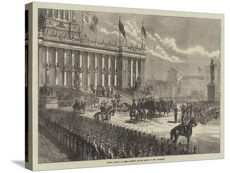 Prince Arthur at Leeds, Arrival of the Prince at the Townhall--Stretched Canvas Print