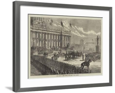 Prince Arthur at Leeds, Arrival of the Prince at the Townhall--Framed Art Print