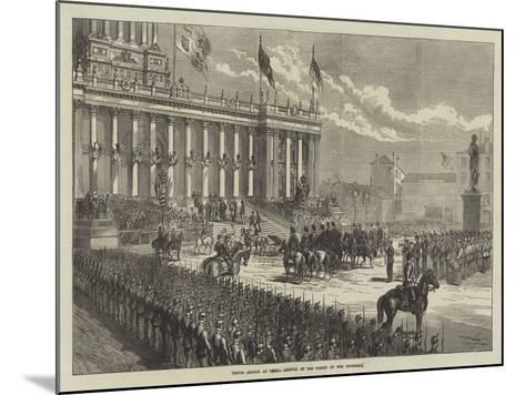 Prince Arthur at Leeds, Arrival of the Prince at the Townhall--Mounted Giclee Print