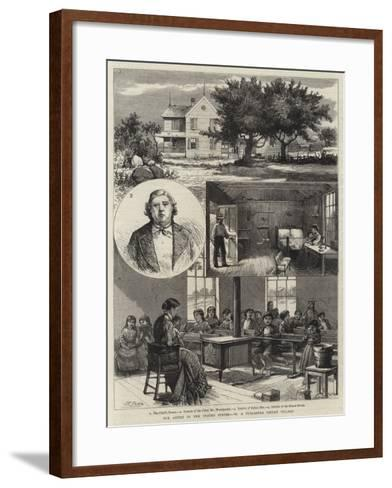 Our Artist in the United States, VI, a Tuscarora Indian Village--Framed Art Print