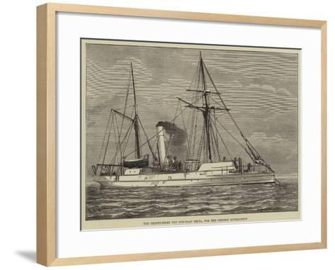 The Thirty-Eight Ton Gun-Boat Delta, for the Chinese Government--Framed Art Print