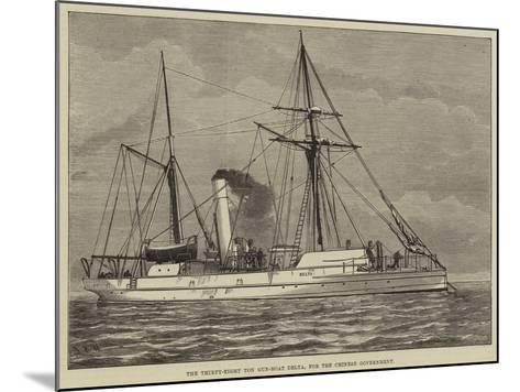 The Thirty-Eight Ton Gun-Boat Delta, for the Chinese Government--Mounted Giclee Print