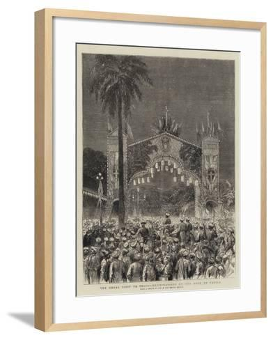 The Royal Visit to India, Illuminations on the Road to Parell--Framed Art Print