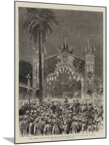 The Royal Visit to India, Illuminations on the Road to Parell--Mounted Giclee Print