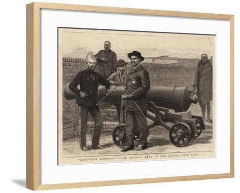 Cetewayo Civilised, the Ex-Zulu King in the Castle, Cape Town--Framed Art Print