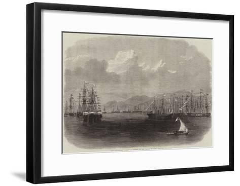 The Ceremonial Fleet at Anchor in the Roads of Suez, Red Sea--Framed Art Print