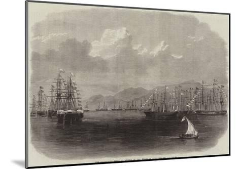 The Ceremonial Fleet at Anchor in the Roads of Suez, Red Sea--Mounted Giclee Print