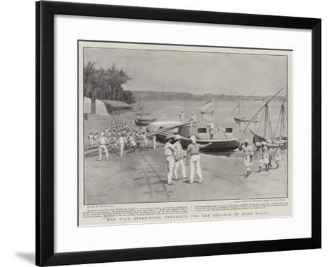 The Nile Expedition, Preparing for the Advance at Wady Halfa--Framed Art Print