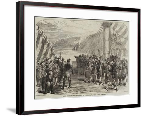 Scene from the New Burlesque of Columbus, at the Gaiety Theatre--Framed Art Print