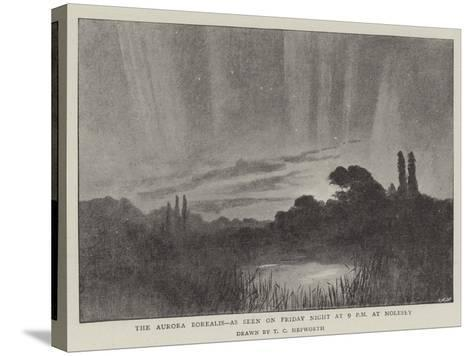 The Aurora Borealis, as Seen on Friday Night at 9 PM at Molesey--Stretched Canvas Print