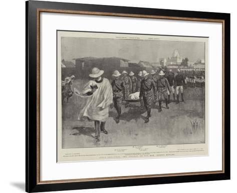 After Omdurman, the Funeral of the Honourable Hubert Howard--Framed Art Print