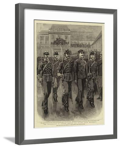 The Degradation of Captain Dreyfus for Selling State Documents--Framed Art Print