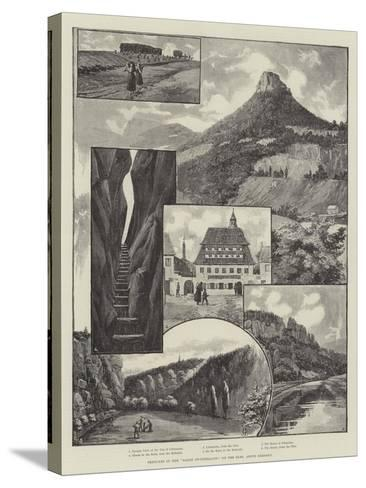 Sketches in the Saxon Switzerland, on the Elbe, Above Dresden--Stretched Canvas Print