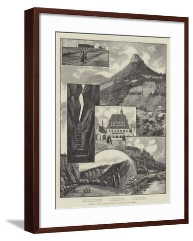 Sketches in the Saxon Switzerland, on the Elbe, Above Dresden--Framed Art Print