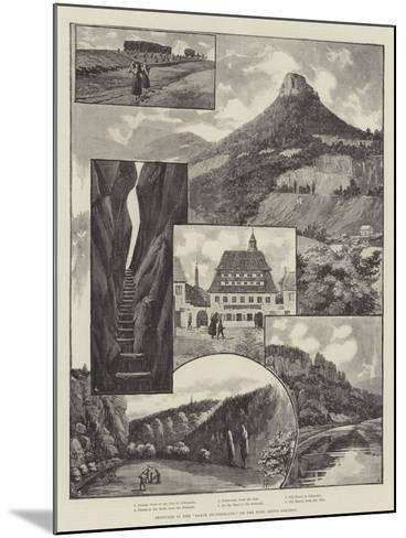 Sketches in the Saxon Switzerland, on the Elbe, Above Dresden--Mounted Giclee Print
