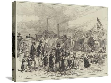Sketches in Berlin, Squatters' Village in the Schlaechter-Weise--Stretched Canvas Print