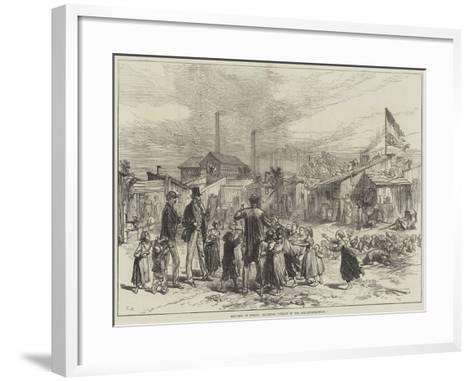 Sketches in Berlin, Squatters' Village in the Schlaechter-Weise--Framed Art Print