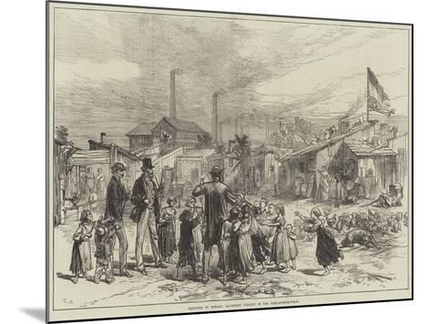 Sketches in Berlin, Squatters' Village in the Schlaechter-Weise--Mounted Giclee Print