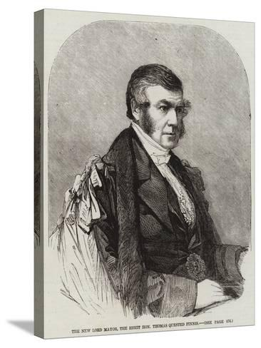 The New Lord Mayor, the Right Honourable Thomas Quested Finnis--Stretched Canvas Print