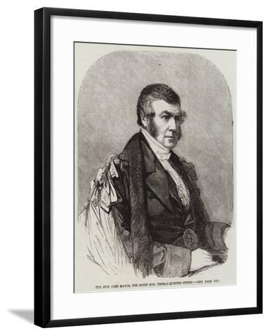 The New Lord Mayor, the Right Honourable Thomas Quested Finnis--Framed Art Print