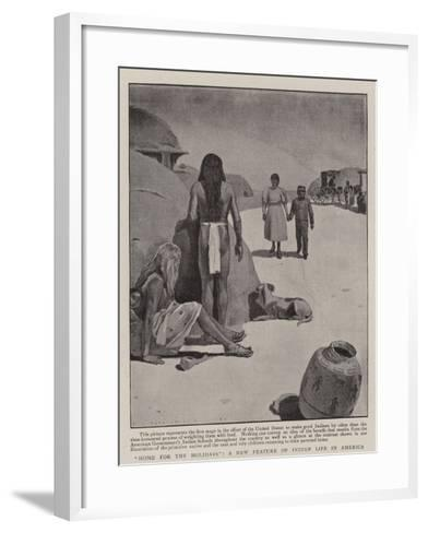 Home for the Holidays, a New Feature of Indian Life in America--Framed Art Print