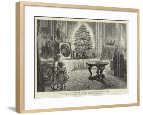 Christmas Eve at Windsor Castle, the Queen's Christmas Tree--Framed Art Print