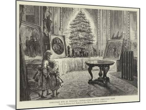 Christmas Eve at Windsor Castle, the Queen's Christmas Tree--Mounted Giclee Print