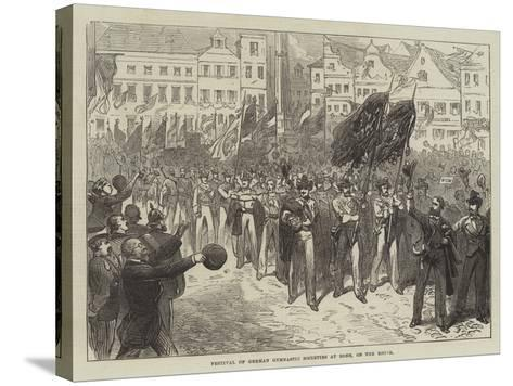 Festival of German Gymnastic Societies at Bonn, on the Rhine--Stretched Canvas Print