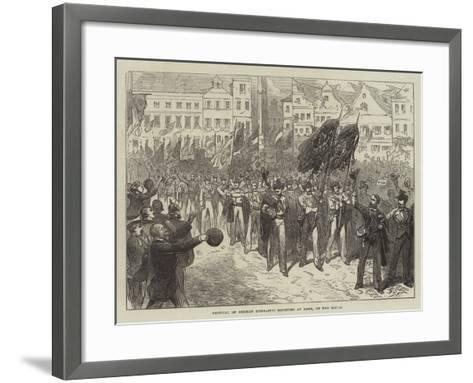 Festival of German Gymnastic Societies at Bonn, on the Rhine--Framed Art Print