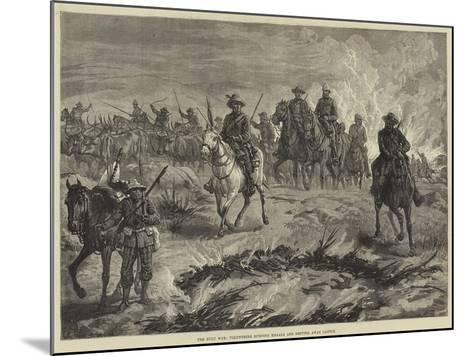 The Zulu War, Volunteers Burning Kraals and Driving Away Cattle--Mounted Giclee Print