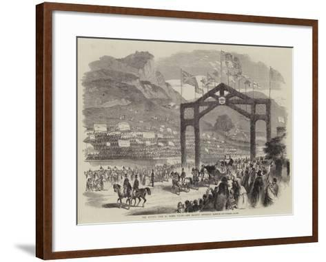 The Queen's Visit to North Wales, Her Majesty Entering Bangor--Framed Art Print