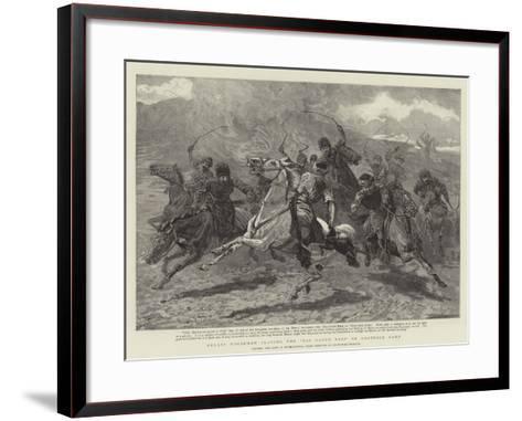 Herati Horsemen Playing the Baz Gadeh Bazi or Goat-Neck Game--Framed Art Print