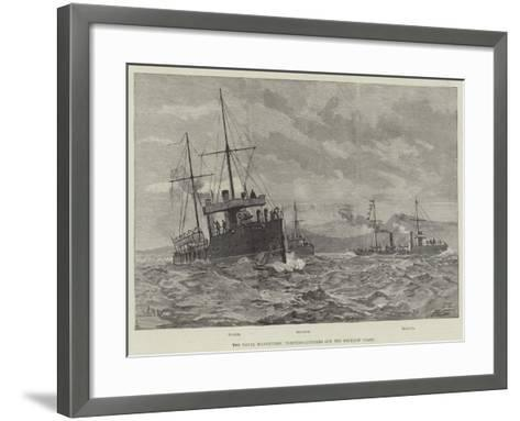 The Naval Manoeuvres, Torpedo-Catchers Off the Wicklow Coast--Framed Art Print