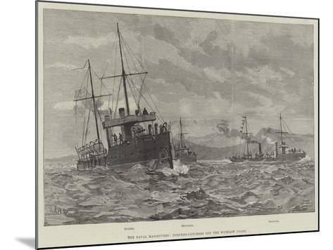 The Naval Manoeuvres, Torpedo-Catchers Off the Wicklow Coast--Mounted Giclee Print