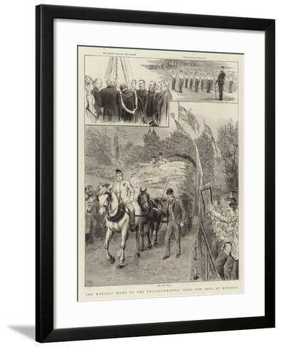 The Harvest Home at the Philanthrophic Home for Boys at Redhill--Framed Art Print