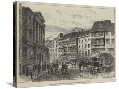 The Sandhill, with the Old Guildhall and the Surtees' House--Stretched Canvas Print