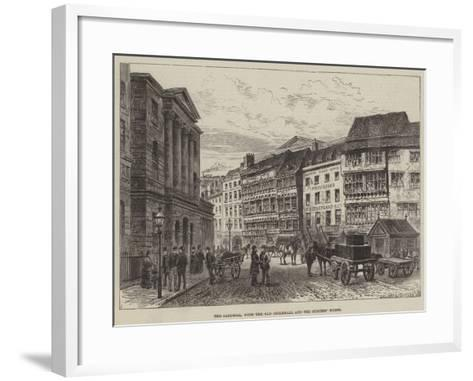The Sandhill, with the Old Guildhall and the Surtees' House--Framed Art Print