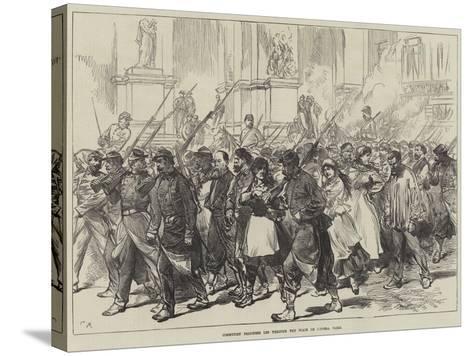 Communist Prisoners Led Through the Place De L'Opera, Paris--Stretched Canvas Print