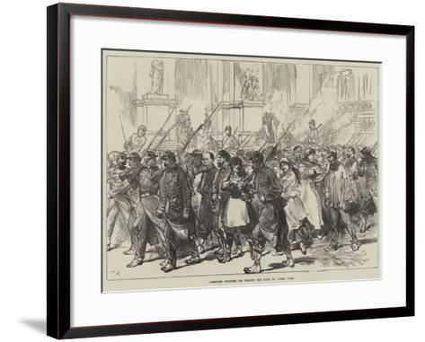 Communist Prisoners Led Through the Place De L'Opera, Paris--Framed Art Print
