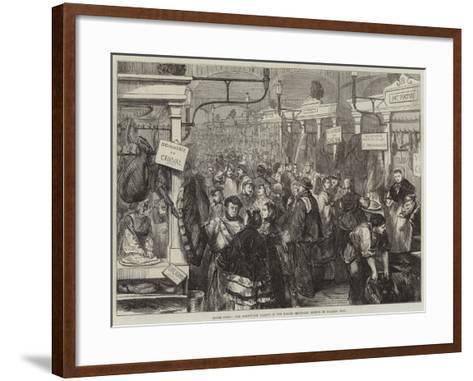 Inside Paris, the Horseflesh Market in the Halles Centrales--Framed Art Print