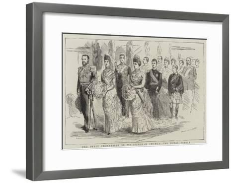 The First Procession in Whippingham Church, the Royal Family--Framed Art Print