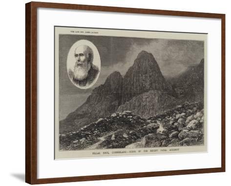 Pillar Rock, Cumberland, Scene of the Recent Fatal Accident--Framed Art Print