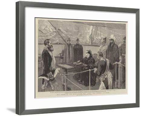 The Queen at the Manchester Ship Canal, the Opening Ceremony--Framed Art Print