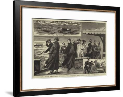 Oil Upon Troubled Waters, the Recent Experiments at Folkestone--Framed Art Print