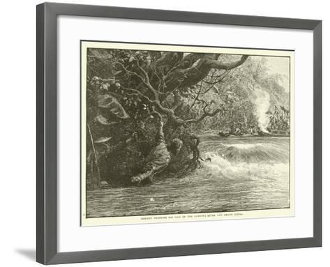 Gordon Fighting His Way Up the Yangtze River and Grand Canal--Framed Art Print