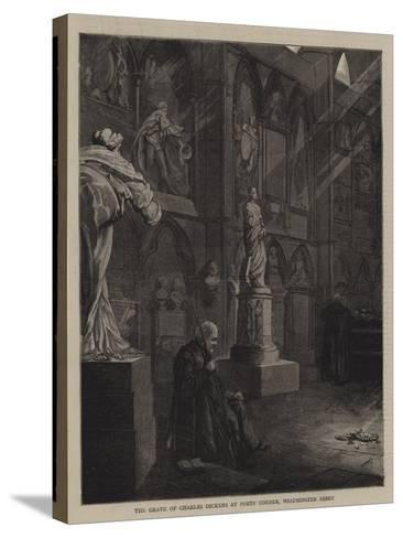 The Grave of Charles Dickens at Poets' Corner, Westminster Abbey--Stretched Canvas Print